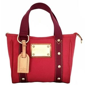 Louis Vuitton ANTIGUA CABAS PM in Red